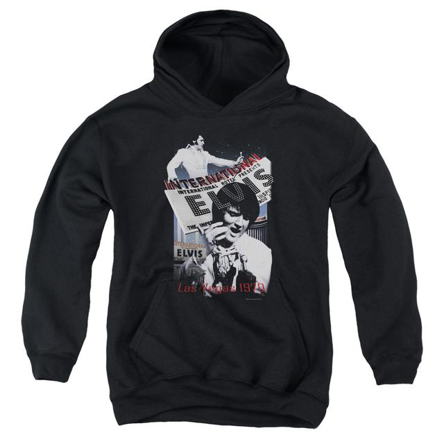 Elvis Presley Youth Hoodie | INTERNATIONAL HOTEL Pull-Over Sweatshirt
