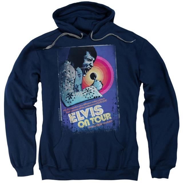 Elvis Presley Hoodie | ON TOUR POSTER Pull-Over Sweatshirt