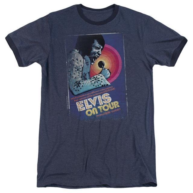 Elvis Presley Shirt   ON TOUR POSTER Premium Ringer Tee