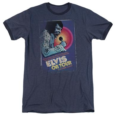 Elvis Presley Shirt | ON TOUR POSTER Premium Ringer Tee