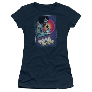Elvis Presley Juniors Shirt | ON TOUR POSTER Juniors T Shirt