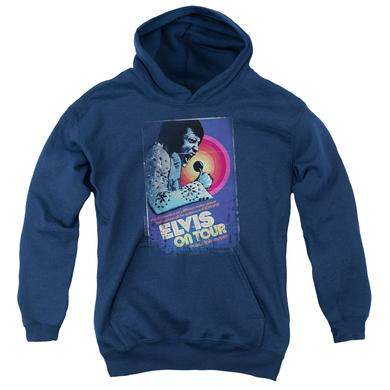 Elvis Presley Youth Hoodie | ON TOUR POSTER Pull-Over Sweatshirt