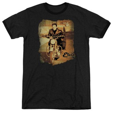Elvis Presley Shirt | HIT THE ROAD Premium Ringer Tee