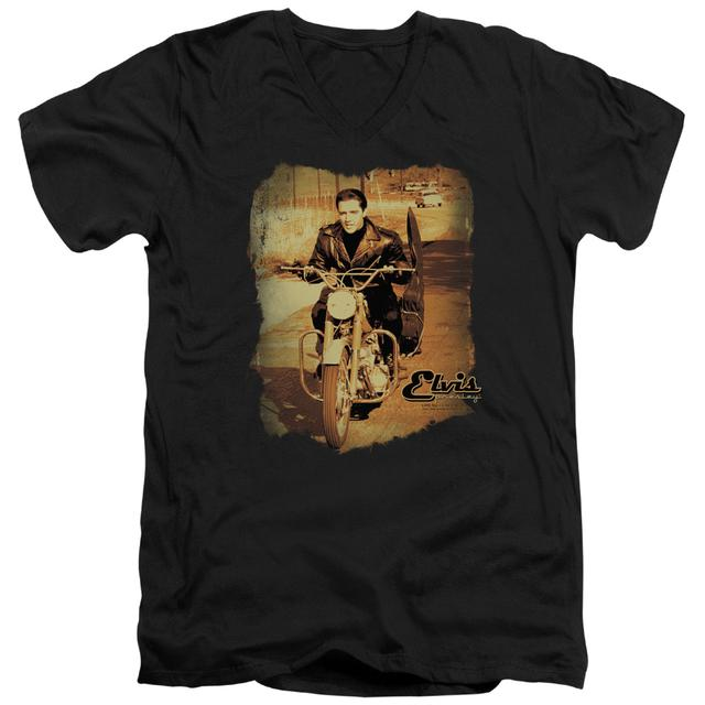 Elvis Presley T Shirt (Slim Fit) | HIT THE ROAD Slim-fit Tee