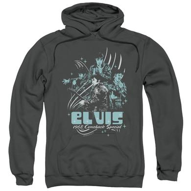 Elvis Presley Hoodie | 68 LEATHER Pull-Over Sweatshirt
