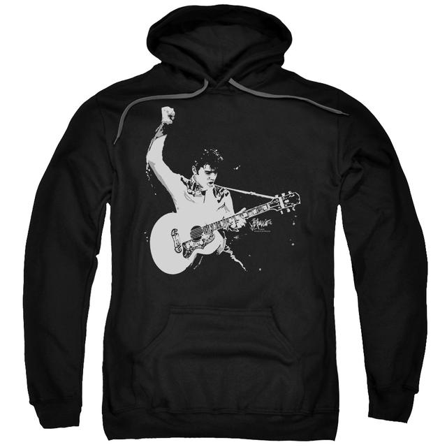 Elvis Presley Hoodie | BLACK&WHITE GUITARMAN Pull-Over Sweatshirt