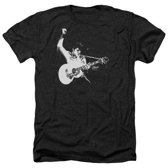 Elvis Presley Tee | BLACK&WHITE GUITARMAN Premium T Shirt