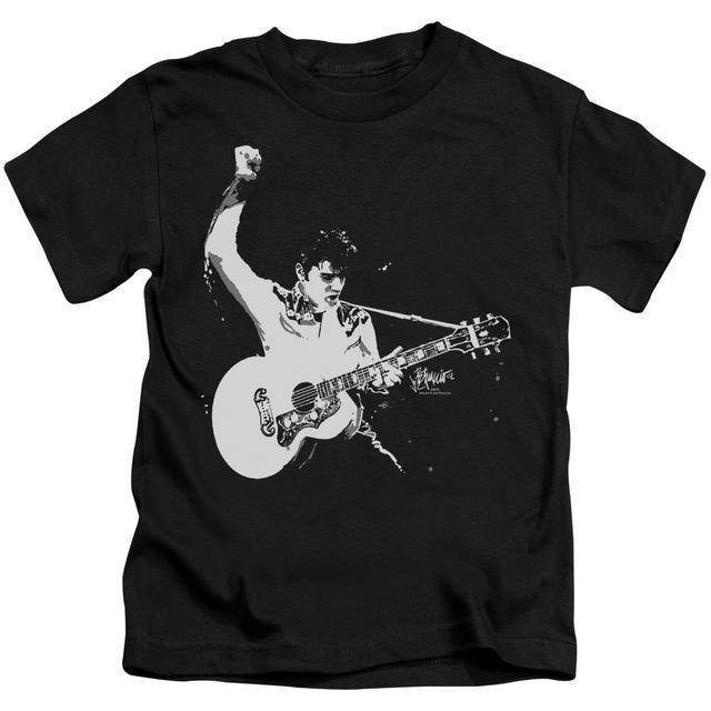 Elvis Presley Kids T Shirt | BLACK&WHITE GUITARMAN Kids Tee