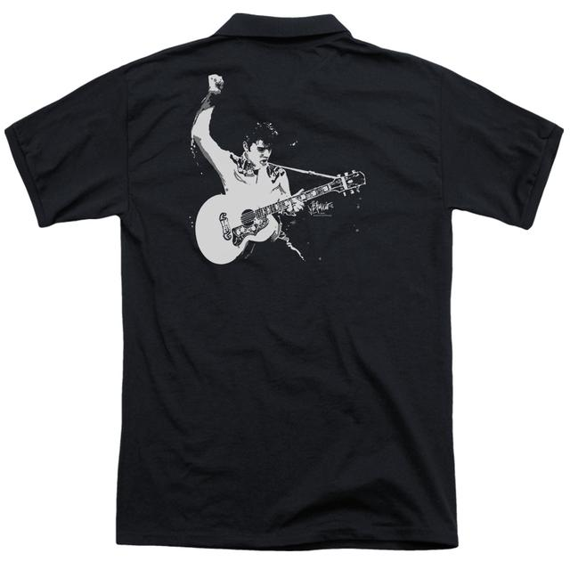Elvis Presley BLACK&WHITE GUITARMAN (BACK PRINT)