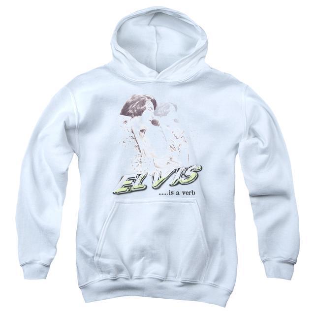 Youth Hoodie | ELVIS IS A VERB Pull-Over Sweatshirt