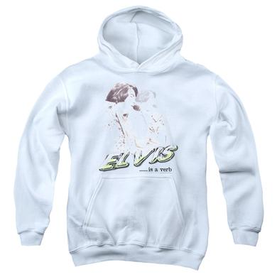 Youth Hoodie | ELVIS IS A VERB Pull-Over Sweatshirt
