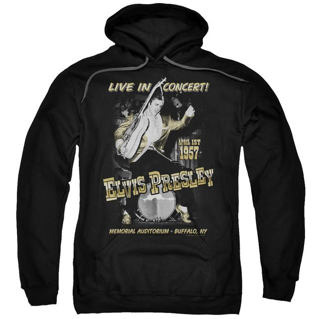 Elvis Presley Hoodie | LIVE IN BUFFALO Pull-Over Sweatshirt