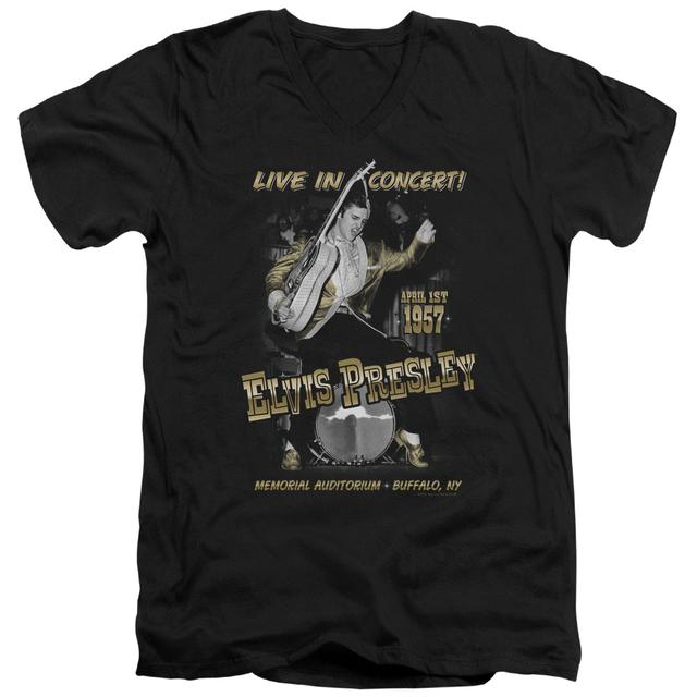 Elvis Presley T Shirt (Slim Fit) | LIVE IN BUFFALO Slim-fit Tee