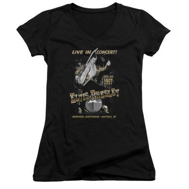 Elvis Presley Junior's V-Neck Shirt | LIVE IN BUFFALO Junior's Tee