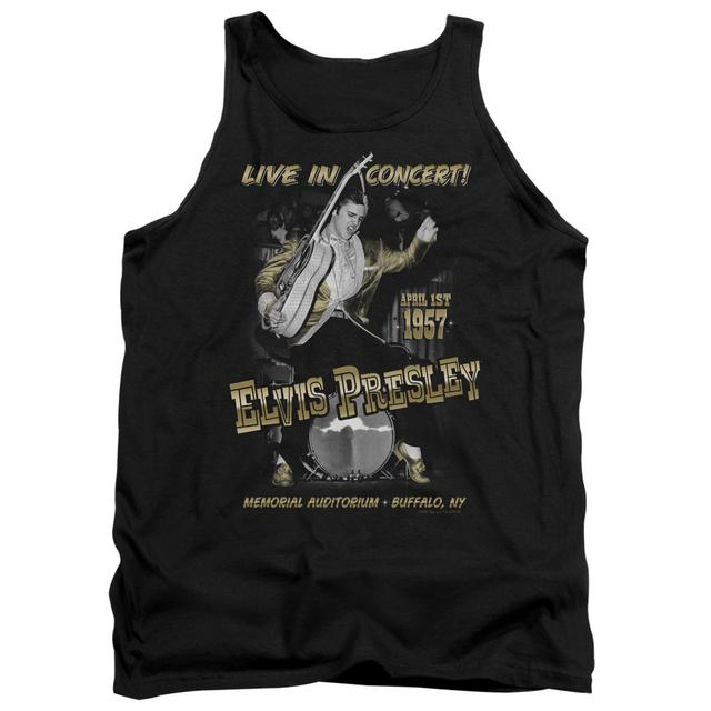 Elvis Presley Tank Top | LIVE IN BUFFALO Sleeveless Shirt