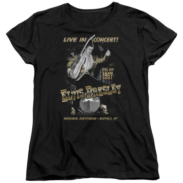 Elvis Presley Women's Shirt | LIVE IN BUFFALO Ladies Tee