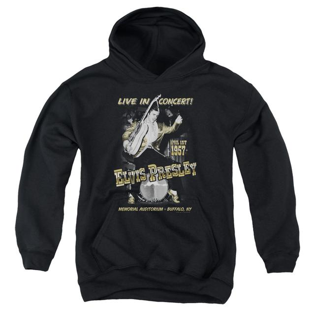 Elvis Presley Youth Hoodie | LIVE IN BUFFALO Pull-Over Sweatshirt