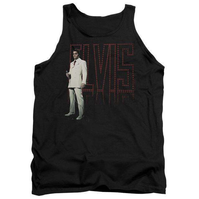 Elvis Presley Tank Top   WHITE SUIT Sleeveless Shirt
