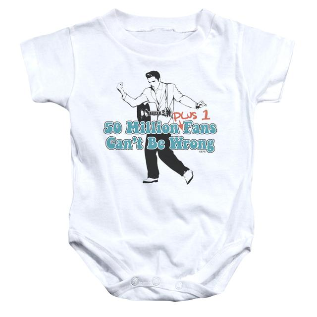 Elvis Presley Baby Onesie | 50 MILLION FANS PLUS 1 Infant Snapsuit