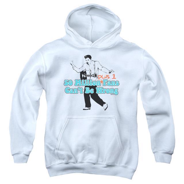 Elvis Presley Youth Hoodie   50 MILLION FANS PLUS 1 Pull-Over Sweatshirt