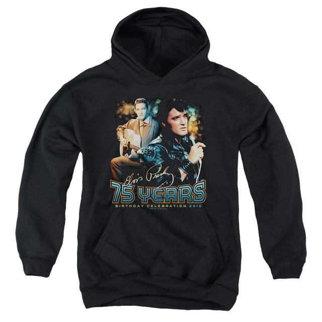 Elvis Presley Youth Hoodie | 75 YEARS Pull-Over Sweatshirt