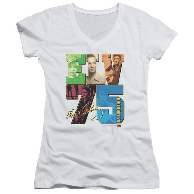 Elvis Presley Junior's V-Neck Shirt | BIRTHDAY 2010 Junior's Tee