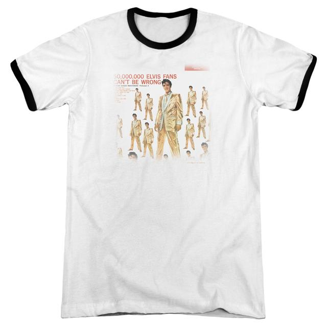 Elvis Presley Shirt | 50 MILLION FANS Premium Ringer Tee
