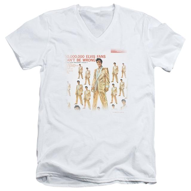 Elvis Presley T Shirt (Slim Fit) | 50 MILLION FANS Slim-fit Tee