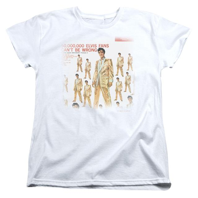 Elvis Presley Women's Shirt | 50 MILLION FANS Ladies Tee