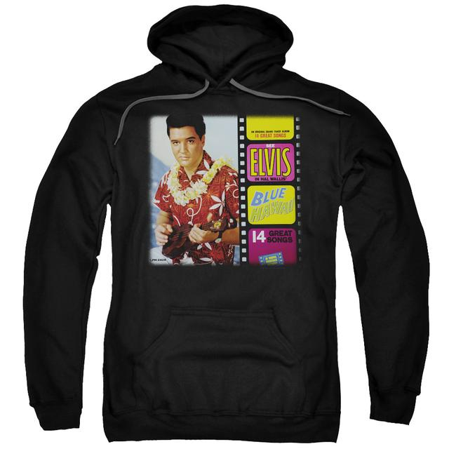 Elvis Presley Hoodie | BLUE HAWAII ALBUM Pull-Over Sweatshirt