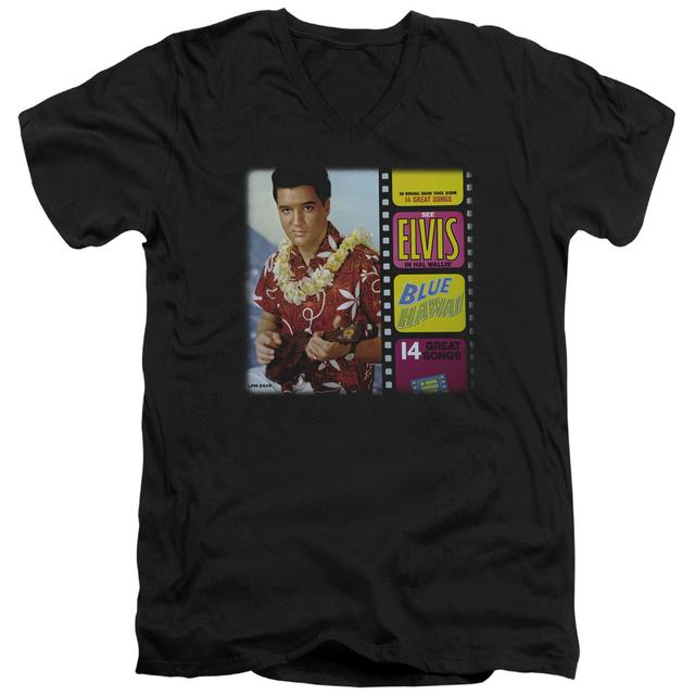 Elvis Presley T Shirt (Slim Fit) | BLUE HAWAII ALBUM Slim-fit Tee