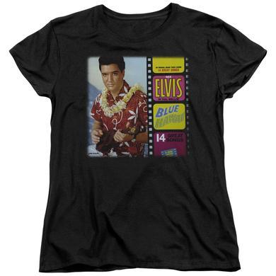 Elvis Presley Women's Shirt   BLUE HAWAII ALBUM Ladies Tee