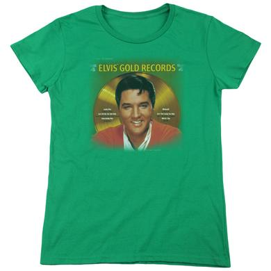 Elvis Presley Women's Shirt   GOLD RECORDS Ladies Tee