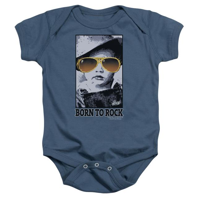 Elvis Presley Baby Onesie | BORN TO ROCK Infant Snapsuit