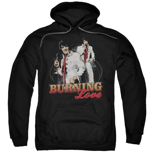 Elvis Presley Hoodie | BURNING LOVE Pull-Over Sweatshirt