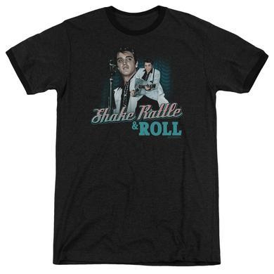 Elvis Presley Shirt | SHAKE RATTLE & ROLL Premium Ringer Tee