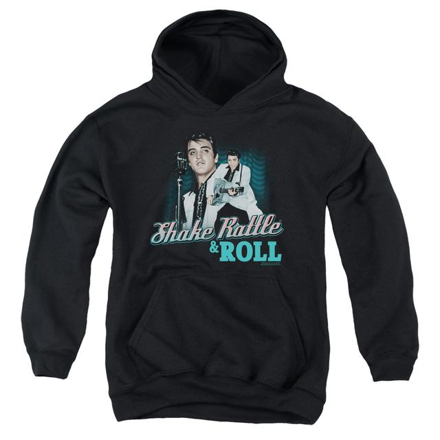 Elvis Presley Youth Hoodie | SHAKE RATTLE & ROLL Pull-Over Sweatshirt