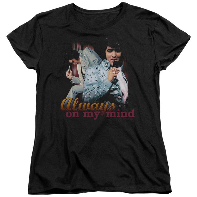 Elvis Presley Women's Shirt | ALWAYS ON MY MIND Ladies Tee