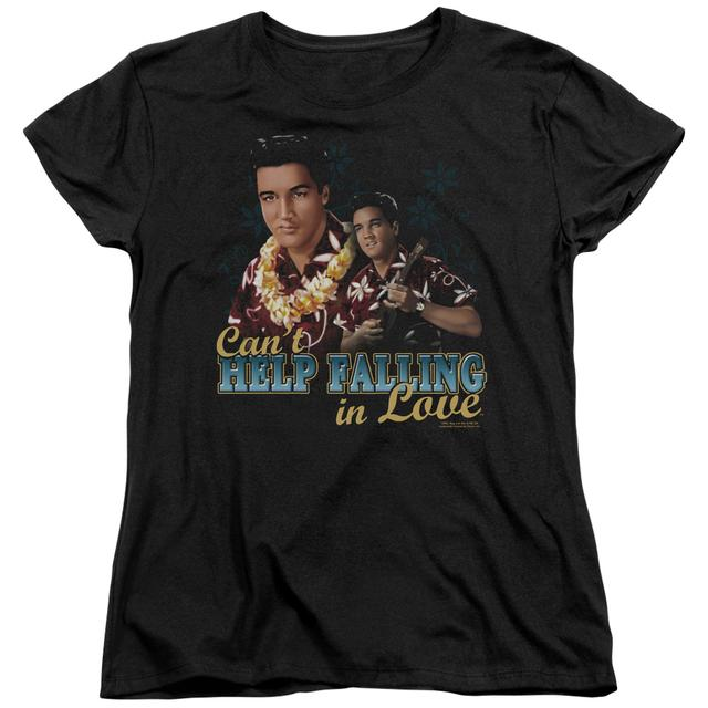 Elvis Presley Women's Shirt | CAN'T HELP FALLING Ladies Tee