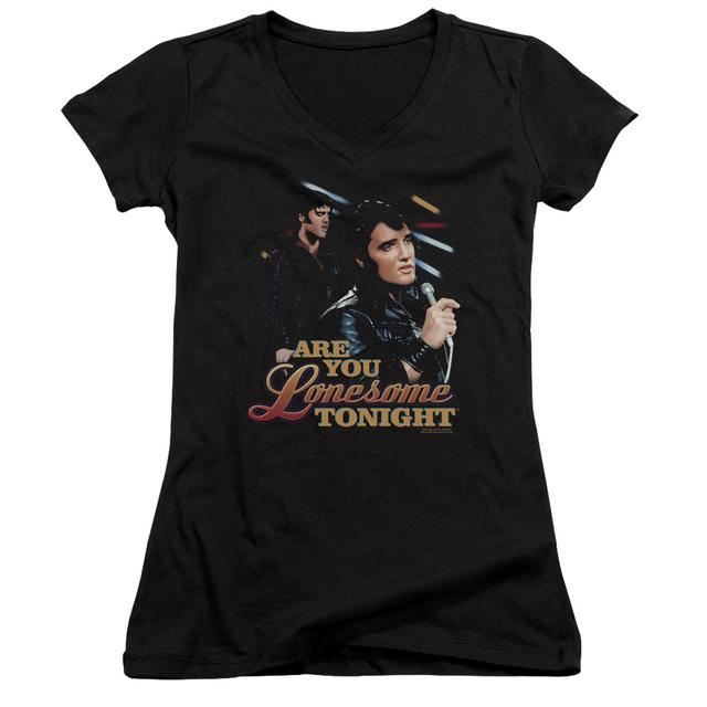 Elvis Presley Junior's V-Neck Shirt | ARE YOU LONESOME Junior's Tee