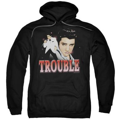 Elvis Presley Hoodie | TROUBLE Pull-Over Sweatshirt