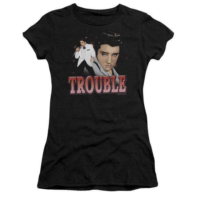Elvis Presley Juniors Shirt | TROUBLE Juniors T Shirt