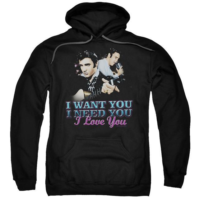 Elvis Presley Hoodie | I WANT YOU Pull-Over Sweatshirt