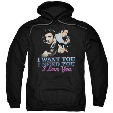 Elvis Presley Hoodie | I WANT YOU Pull-Over Sweatshirt