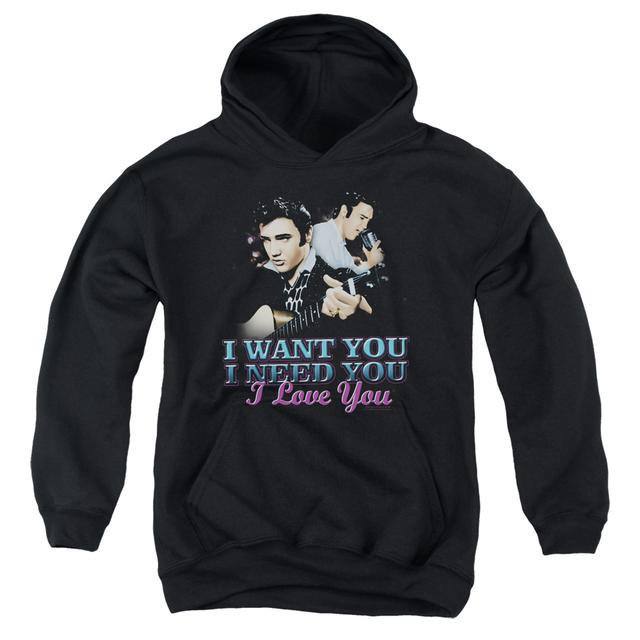 Elvis Presley Youth Hoodie | I WANT YOU Pull-Over Sweatshirt