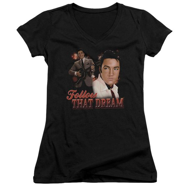 Elvis Presley Junior's V-Neck Shirt | FOLLOW THAT DREAM Junior's Tee