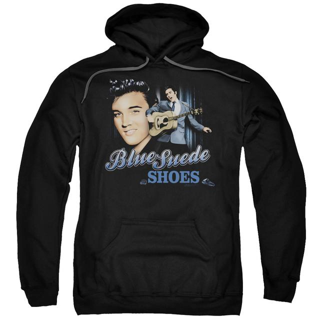 Elvis Presley Hoodie | BLUE SUEDE SHOES Pull-Over Sweatshirt