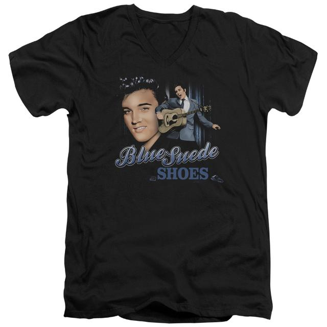 Elvis Presley T Shirt (Slim Fit) | BLUE SUEDE SHOES Slim-fit Tee