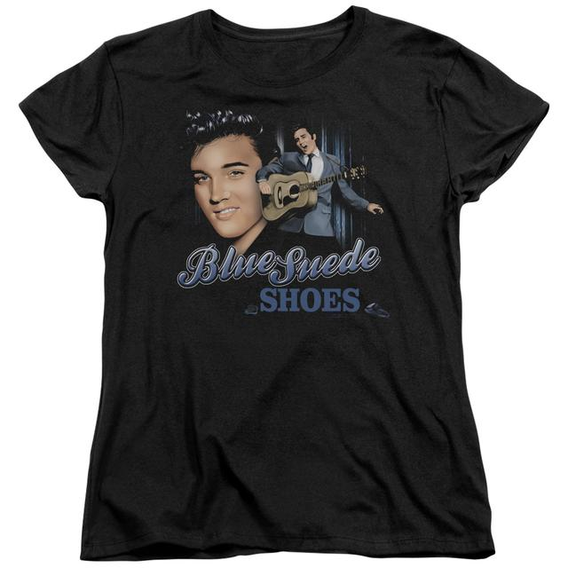 Elvis Presley Women's Shirt | BLUE SUEDE SHOES Ladies Tee