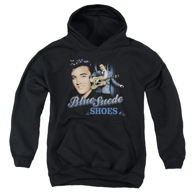 Elvis Presley Youth Hoodie | BLUE SUEDE SHOES Pull-Over Sweatshirt